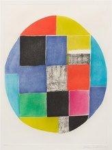 Sonia DELAUNAY-TERK (1885-1979) - Composition circulaire avec carrés et rectangles