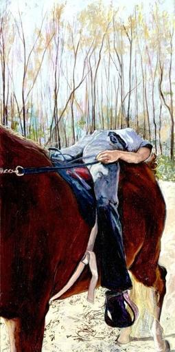 Amanda BESL - Pintura - Untitled (riding)
