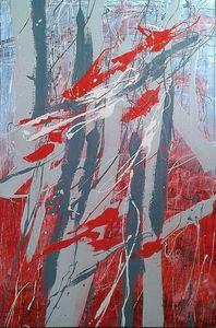 Marie Edmée SEGUIN - Painting - La Nuit Des Temps N°1