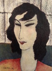 Anton SAILER - Pittura - Femme   - Damenporträt - München