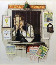 诺曼•洛克威尔 - 版画 - Ticket Seller