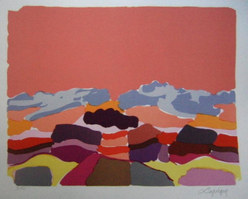 Charles LAPICQUE - Grabado - Le Sahara
