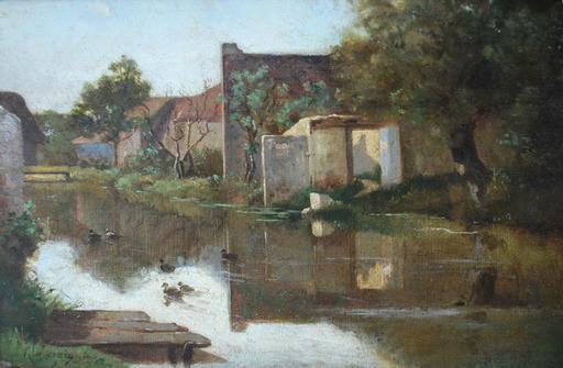 Henri Joseph HARPIGNIES - Gemälde - Village Scene