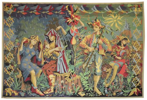 Lucien COUTAUD - Tapisserie - la pluie et le beau temps