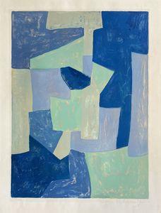 Serge POLIAKOFF - Estampe-Multiple - Composition bleue et verte