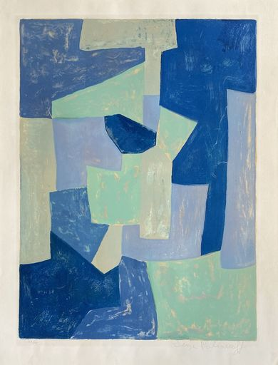 Serge POLIAKOFF - Druckgrafik-Multiple - Composition bleue et verte