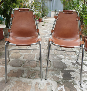 Charlotte PERRIAND - Paire de chaises Les Arcs