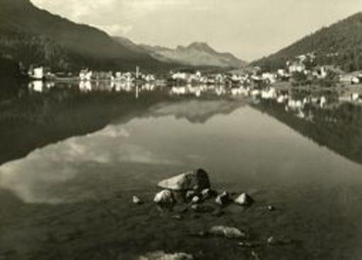 Albert STEINER - Fotografie - Am ST.Moritzersee, mit St. Moritz-Bad