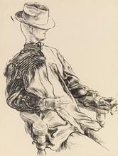 George GROSZ - Dessin-Aquarelle - Study for a Mannequin  - Etude pour unmannequin