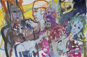 Sandra DETOURBET - Painting - L'inconstance