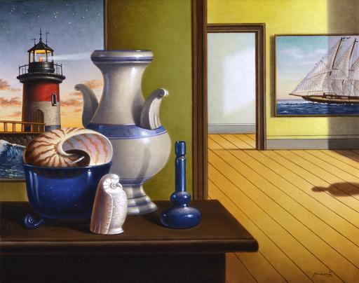 Antonio NUNZIANTE - Gemälde - Interno metafisico