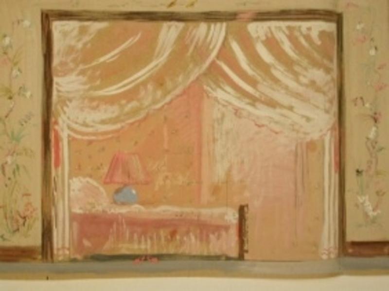 József BATO - Painting - Stage Interior Design
