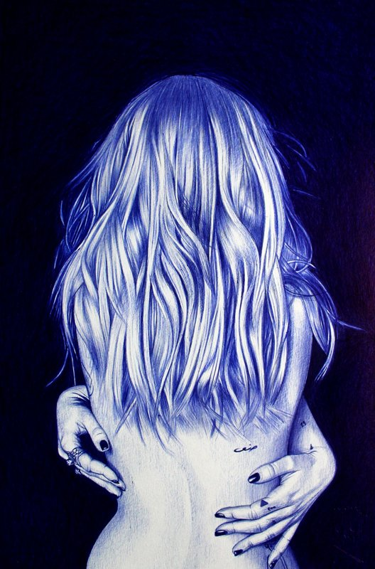 Wayne DANZA - Drawing-Watercolor - Cassiopée I