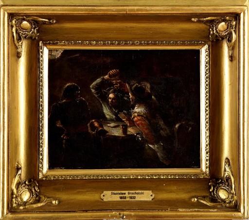 Stanislaw GROCHOLSKI - Peinture - In an Inn