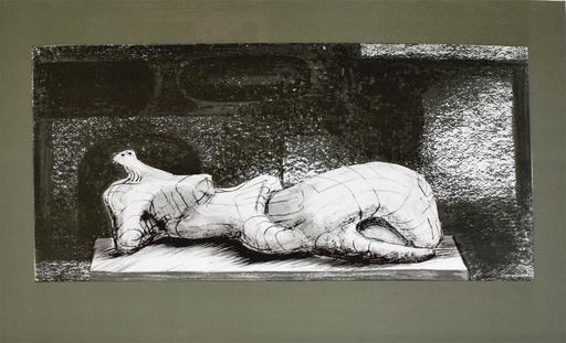 亨利•摩尔 - 版画 - Reclining Figure Architectural Background I