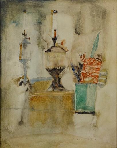 Reginald WESTON - Painting - Tabletop Still Life