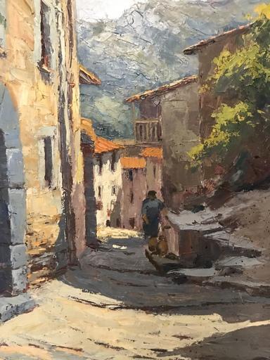 Joan LAZARO CASTELL - Painting - Uma Paisagem Rural