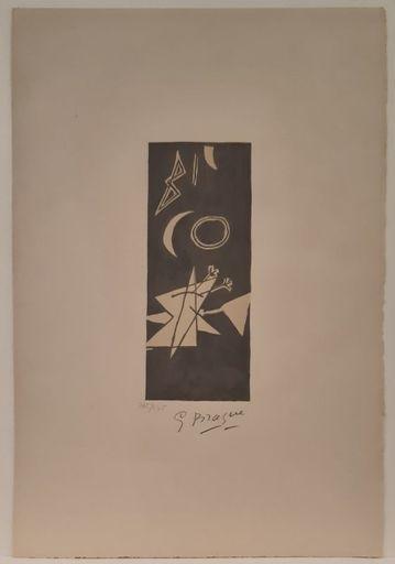 Georges BRAQUE - Stampa-Multiplo - Ciel Gris II