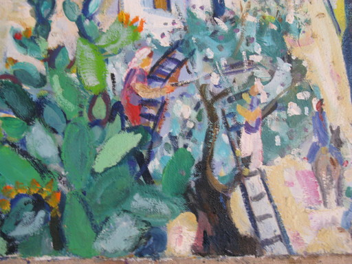 Amos YASKIL - Painting - * Rosh Pina Galilee