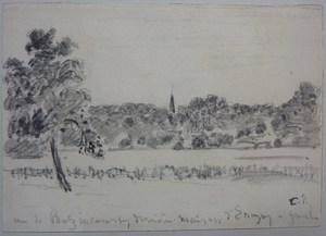 Camille PISSARRO, Paysage à Eragny