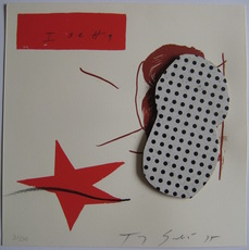 Tony SOULIÉ - Grabado - COLLAGE SÉRIGRAPHIQUE SIGNÉ CRAYON NUM/50 HANDSIGNED COLLAGE
