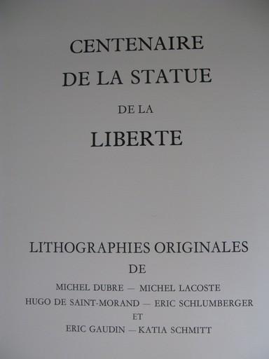 Michel DUBRÉ - Grabado - Centenaire de la Statue de la Liberty