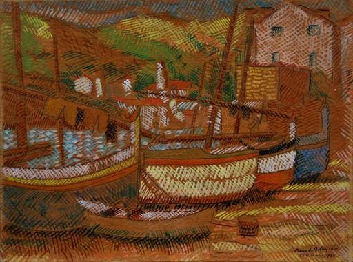 Pierre DE BELAY - Gemälde - Le port de Collioure