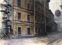 Alexey ALPATOV - Painting - Maliy Kazachiy Lane