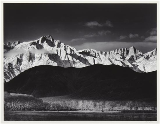 Ansel Easton ADAMS - Photography - Winter Sunrise from Lone Pine, Sierra Nevada,