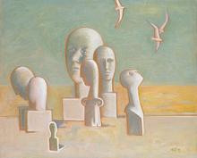 Alexander TOKAREV - Pintura - On the Banks of the Styx