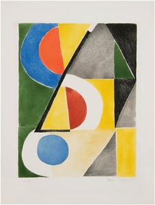 Sonia DELAUNAY-TERK, Composition with Triangles and Semicircles