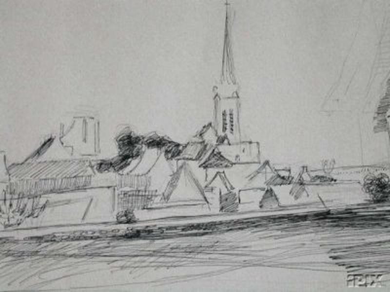 Joseph PRESSMANE - Drawing-Watercolor - Landscape