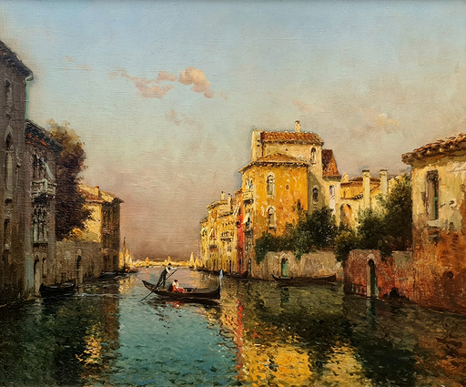 Antoine BOUVARD - Pittura - Towards the Grand Canal, Venice
