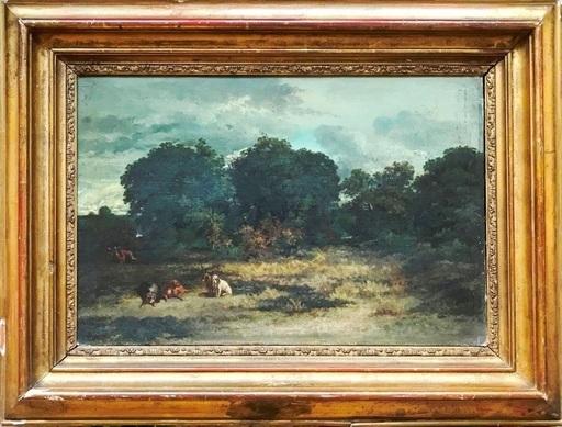 Antoine PASCAL - Pintura - Le repos du chasseur et des chiens