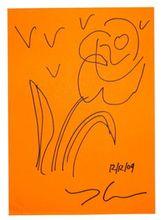 Jeff KOONS - Dibujo Acuarela - Flower 3