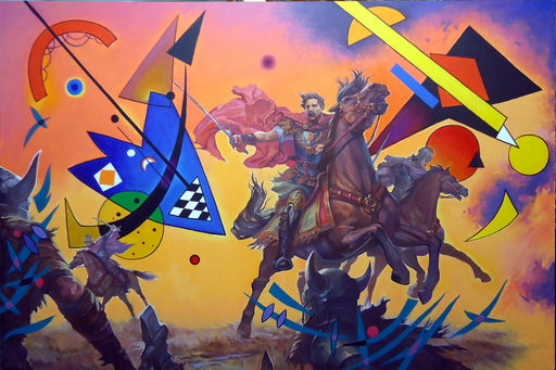 Alexander SAVKO - Pintura - WAR FOR THE UNDEFINED: Blue, finally!