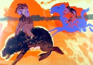 Robert BEAUCHAMP - 版画 - Riders