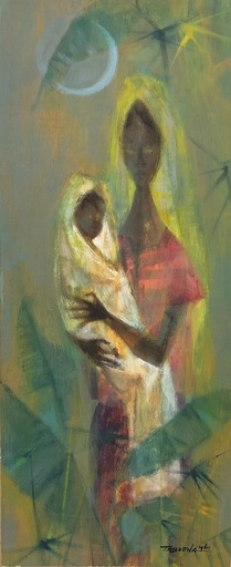Romeo TABUENA - Painting - Mother and Child