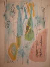 Camille BRYEN - Grabado - Structure imaginaire,1951.