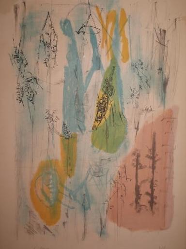 Camille BRYEN - Estampe-Multiple - Structure imaginaire,1951.