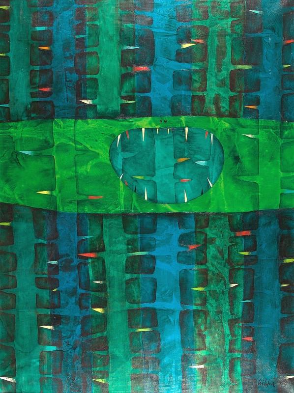 Roberto Gaetano CRIPPA - Painting - SENZA TITOLO - 1957