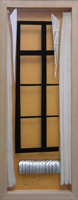 Dorte HÄRTEN - Peinture - Schwarzes Fenster