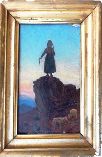 Théodore ROUSSEAU - Painting - SAINTE GENEVIEVE PROTECTRICE DE PARIS