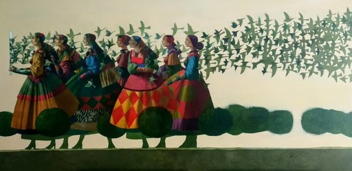 Bobur ISMOILOV - Pintura - Reflection