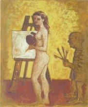 Carlos ESTEBAN - Painting - Le maître et son élève    (Cat N° 3174)