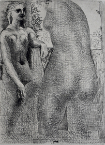 Pablo PICASSO - Estampe-Multiple - Model and Back of Large Sculpture, from: La Suite Vollard