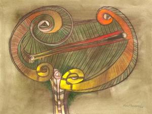 Raul ENMANUEL - Dibujo Acuarela - La Antorcha