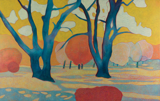 Marie-Pierre AUTONNE - Painting - A l'ombre du bleu