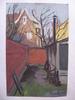 Francis AUDET - Dibujo Acuarela - Au Bout Du Jardin