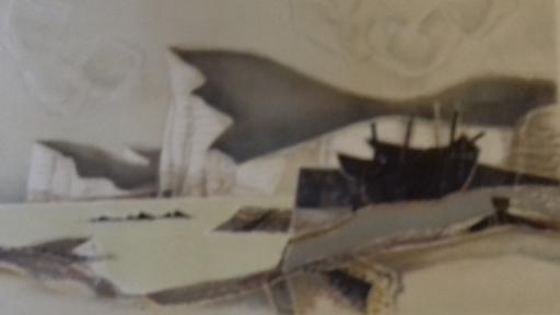 Georges DAYEZ - 版画 - Barques à Etretat.